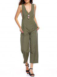 Alluring Plunging Neck Sleeveless Women's Jumpsuit -