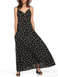 Spaghetti Strap Floral Casual Maxi Dress
