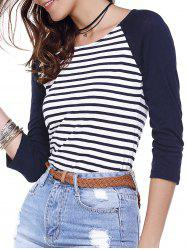 Striped Back Zippered Tee -