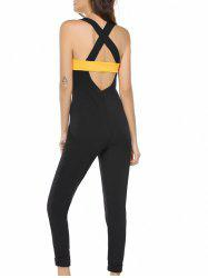 Chic Sleeveless Criss Cross Cut Out Women's Jumpsuit
