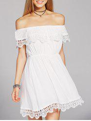 Off The Shoulder Crochet Short Prom Dress
