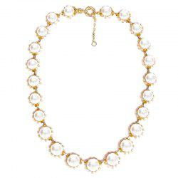 Faux Pearls Adjustable Pendant Necklace