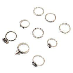 A Suit of Vintage Engraved Rivet Rings -