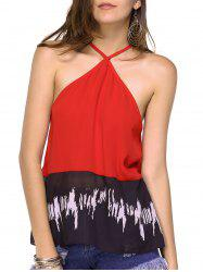 Chic Women's Open Back Pleated Tank Top