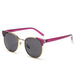Chic Golden Frame Fashion Street Snap Sunglasses For Women