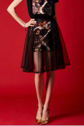 Double Layer Oil Painting Skirt -