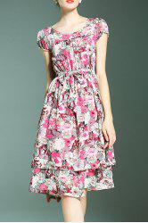 Layered Floral Print Dress -