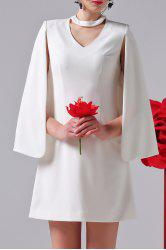 Solid Color Faux Cloak Dress -