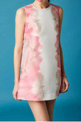 Sleeveless Begonia Print Shift Dress -