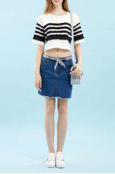 Patched Asymmetric Knitwear -