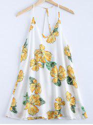 Fashionable V-Neck Print Spaghetti Strap Dress For Women -