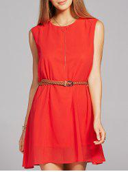 Jewel Neck Shift Tank Dress