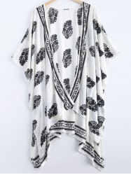 Asymmetric Summer Floral Print Kimono Cover Up