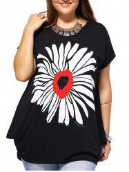 Plus Size Floral Baggy T-Shirt