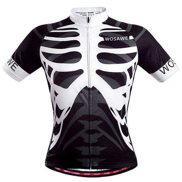 Affordable High Quality Skeleton Pattern Full Zipper Short Sleeve Summer Cycling Jersey For Men