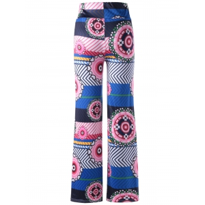 Stylish Pattern Print Straight Leg Pants For Women -
