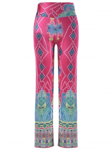 Hot Causal Elastic Waist Printing Pants For Women