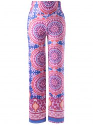Stylish Pattern Printing Elastic Waist Pants For Women