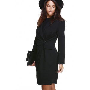 Button Down Ruched Coat -