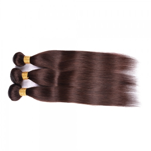 Prevailing 1 Pcs Silky Straight Deep Brown 6A Virgin Brazilian Hair Weave For Women -