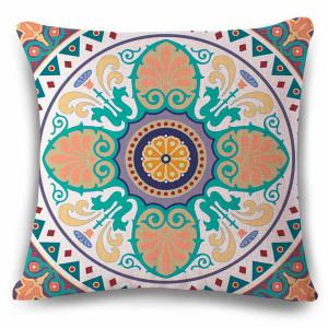Novelty Ethic Multicolor Flower Design Square Shape Pillowcase - Colormix - 45*45cm