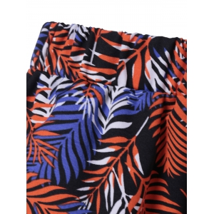 Printed Flowy Shorts - COLORMIX L