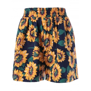 Wide Leg High Waist Floral Shorts