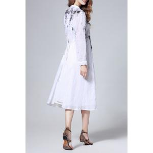 Single Breasted Linen Dress -