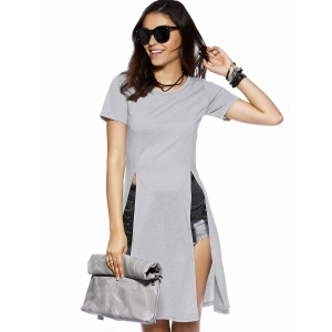 High Slit Long T-Shirt -