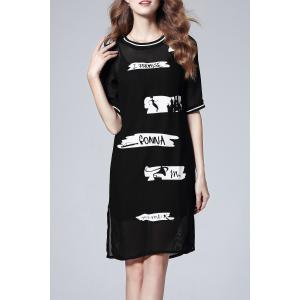 Cami Dress and Letter Print Dress -