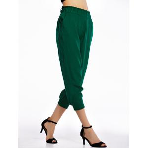 Casual Solid Color Loose-Fittting Capri Pants For Women -