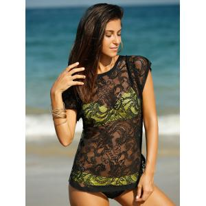 Stylish Women's Embroidery Laced Cover-Up -