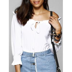Off The Shoulder Pure Color T-Shirt For Women -