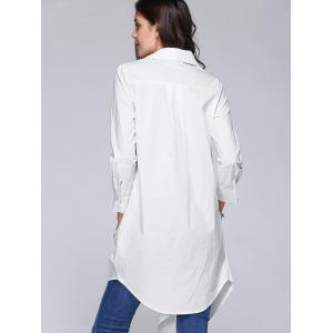 Stylish Irregular Solid Color Loose Shirt For Women - WHITE XL