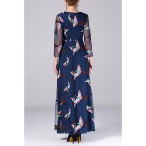 Bird Embroidery Gauze Dress -