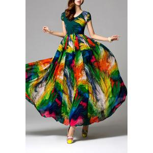 Swingy Multicolored Chiffon Dress -