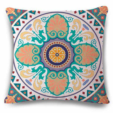 Sale Novelty Ethic Multicolor Flower Design Square Shape Pillowcase COLORMIX