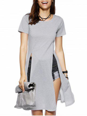 Chic High Slit Long T-Shirt