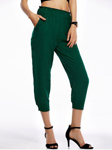Hot Casual Solid Color Loose-Fittting Capri Pants For Women
