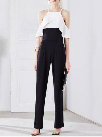 New Stylish Strappy Cold Shoulder Ruffled Jumpsuit For Women