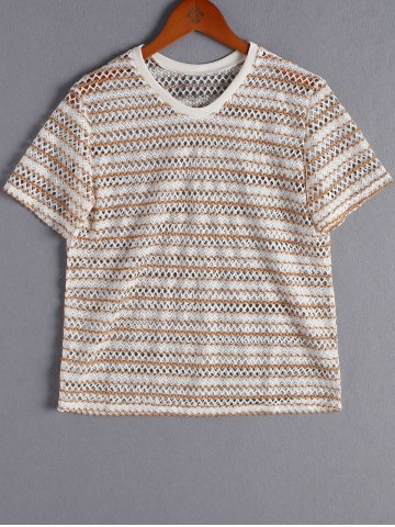Sale Fashionable HollowOutRoundNeck Top For Women