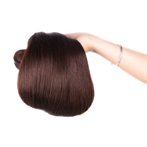 Hot Prevailing 1 Pcs Silky Straight Deep Brown 6A Virgin Brazilian Hair Weave For Women