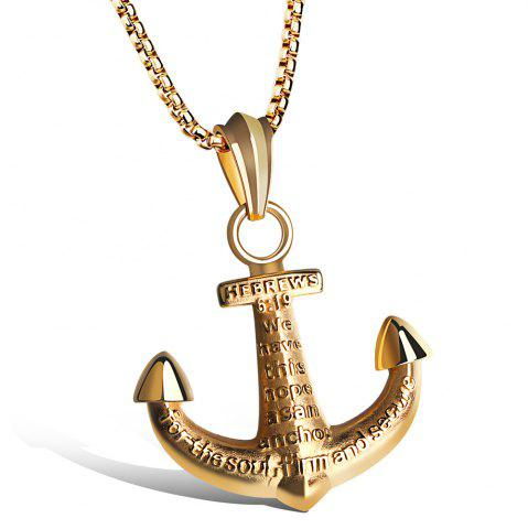 Online Vintage Alloy Anchor Necklace Jewelry For Men