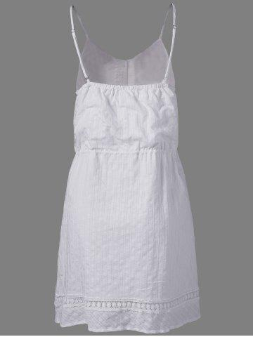 Best Fashionable Cotton Jacquard Harness Dress For Women - S NATURAL WHITE LIGHT Mobile