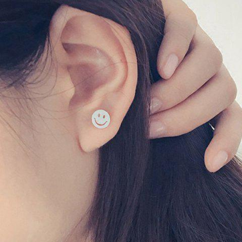 Shop Cut Out Happy Face Silver Plated Stud Earrings