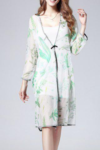 Best Cami Dress and Printed Blouse Twinset