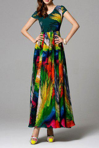 Unique Swingy Multicolored Chiffon Dress