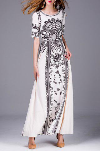 Buy Beaded Print Maxi Dress