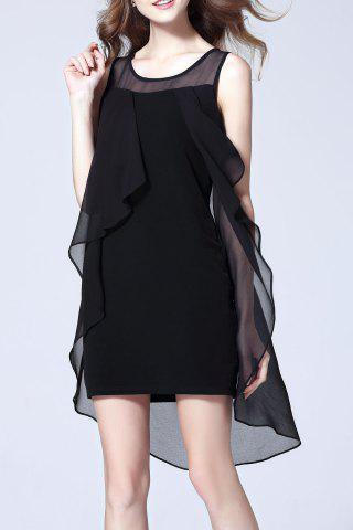 Best Asymmetric Mesh Splicing Dress