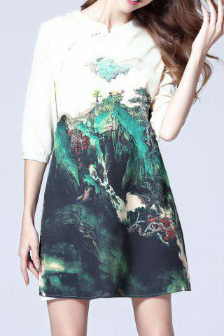 Affordable Half Sleeve Printed Dress
